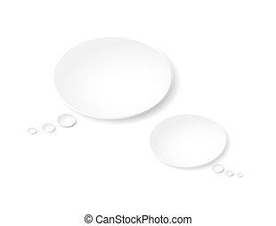 Two blank vector 3d speech bubbles, template for your message