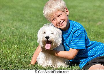 Two blond buddies