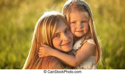 Two blonde girls