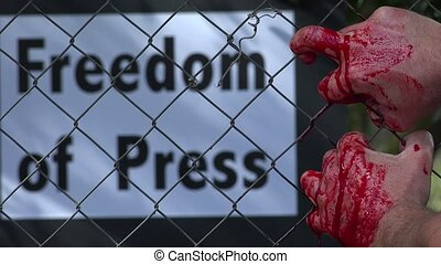 panel press freedom in the background