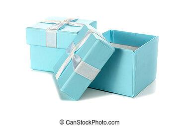 two blue box