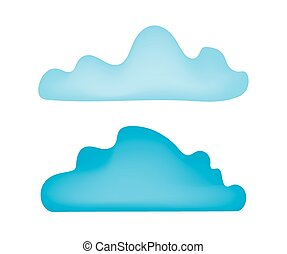 two blue clouds
