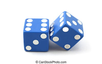 Two blue dice, double sixes