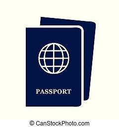 two blue passport documents