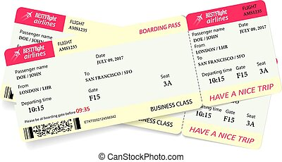 Two boarding pass tickets