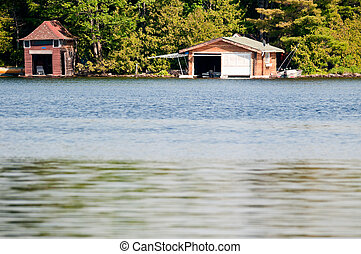 Two boathouses