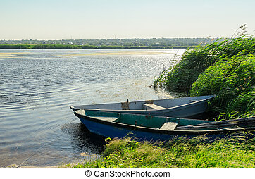 two boats on river