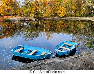 Autumn, water, landscape.