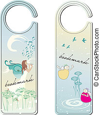 Two bookmarks with fairy and angels