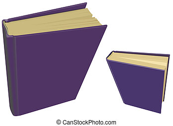 Two Books with Blank Purple Covers