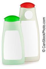 two bottle of shampoo