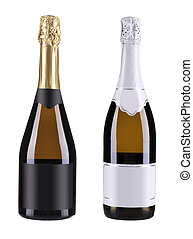 Two bottles of champagne.