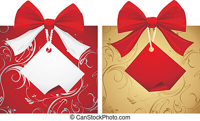 Two boxes with bows