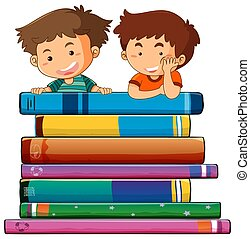 Two boy with books