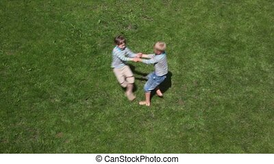 two boys playing