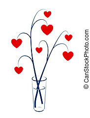Two branches with hearts