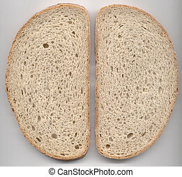 Two bread slices texture