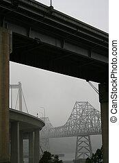 Two Bridges in a Fog