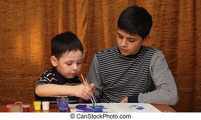 two brothers draws paints 3