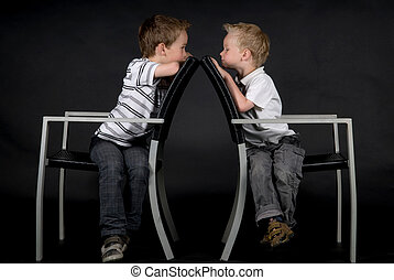 Two Brothers On A Chair