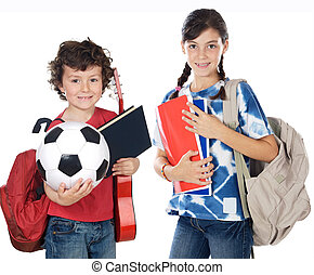 Two brothers students