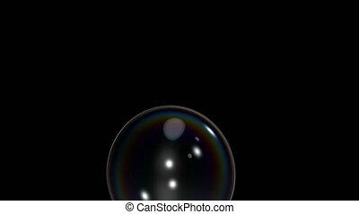 Two Bubble Bursting Clips Black