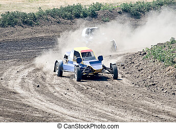 two buggies for extreme off-road on the track