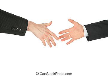 Two business hands