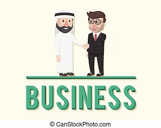 two business illustration design