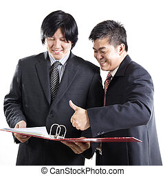 Two Business man discussion