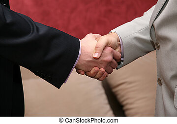 two business men greet hands