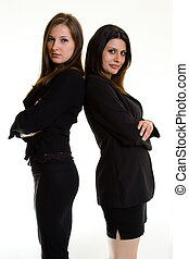 Two business women - Two attractive confident young business...