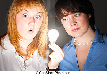 women with bulb