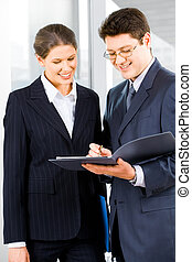 Two businesspeople