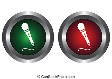 Two buttons with microphone