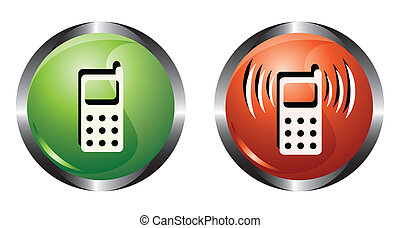 Two buttons with phone