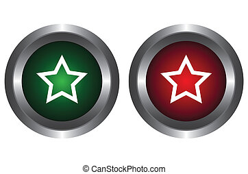 Two buttons with stars