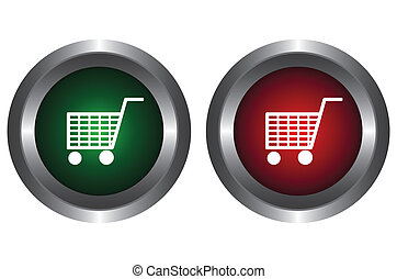 Two buttons with trolley