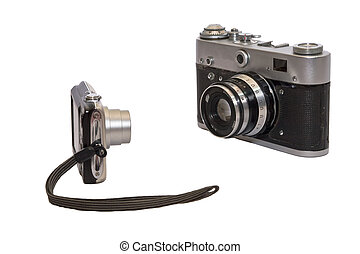 Two cameras of different generation