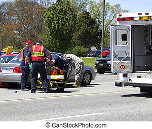Two car crash 5 - Two cars meet in the center turn lane ,3...