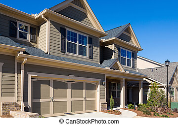 Two Car Garage on New Home
