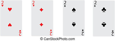 two cards of poker