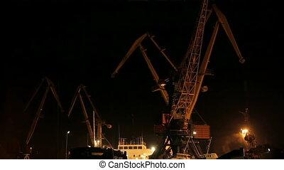 Two cargo cranes