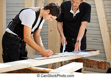 Two carpenters at work