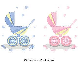 Two carriages, vector.