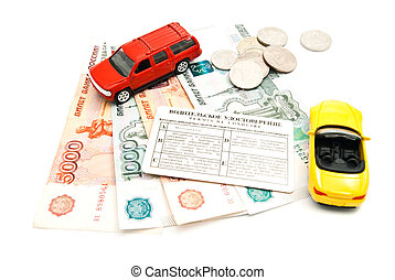 two cars, driving license and money