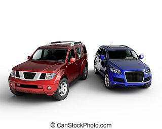 Two cars presentation.