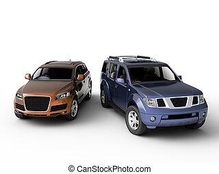 Two cars presentation
