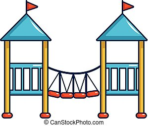 Two castle kid icon, cartoon style - Two castle kid icon....