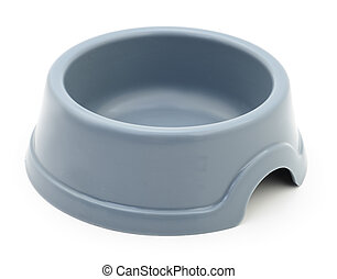 Two cat's plastic bowl.